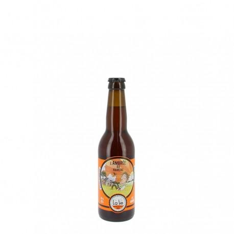 Bière bio L'ambrée du hameau 33 cl 6%