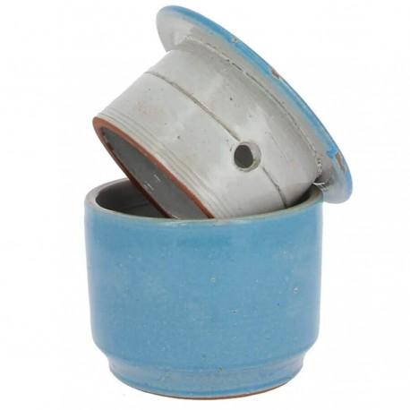 Beurrier à eau conservateur bleu clair 500g