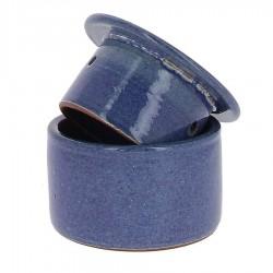 Beurrier à eau en grés bleu 210g