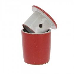 Beurrier à eau en grés rouge 105g