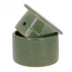 Beurrier à eau en grés vert 210g