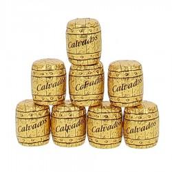 Chocolats tonneaux fourrés au Calvados (8 pièces)