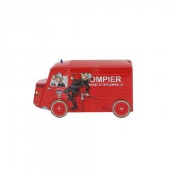 Boite biscuits camion Pompier 170 gr