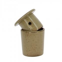 Beurrier à eau en grés beige 105g