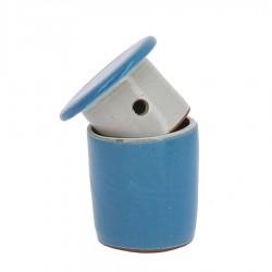 Beurrier à eau en grés bleu clair 105g