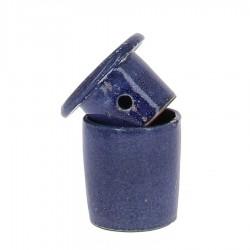 Beurrier à eau en grés bleu foncé 105g