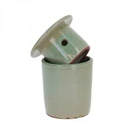 Beurrier à eau en grés vert 105g