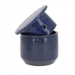 Beurrier à eau en grés bleu foncé 500g