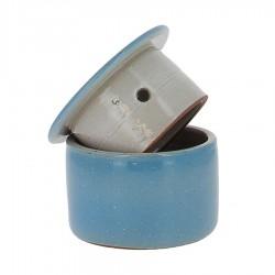 Beurrier à eau en grés bleu clair 210g