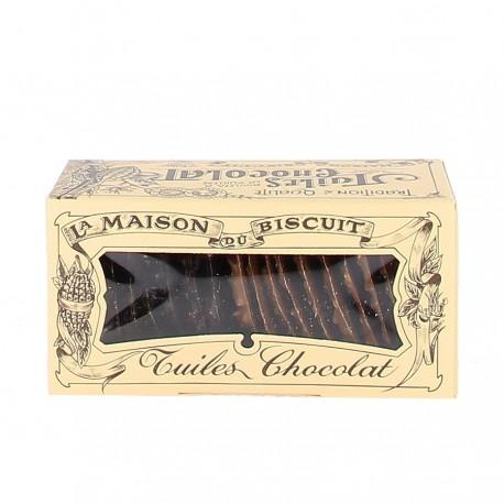 Tuiles chocolat noir, chocolat au lait Maison du biscuit 170g