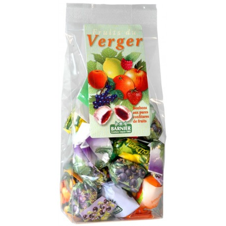 Bonbons aux fruits du verger Barnier 200 gr