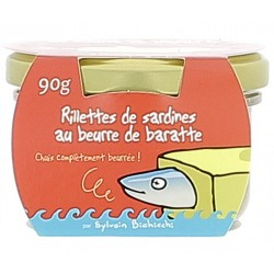 Rillettes de sardines au beurre de baratte 90g Heula
