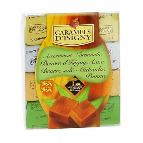 Etui caramels d'Isigny assortiment Normandie 118 g
